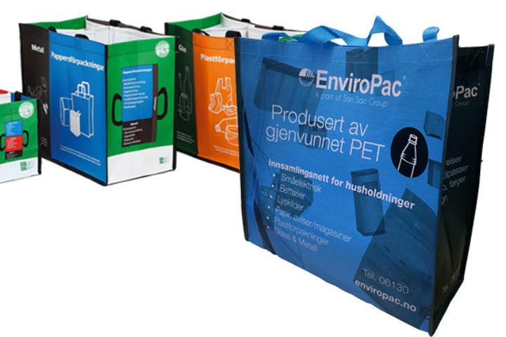 Innsamlingsnett for batterier, lyspærer og mindre elektriske artikler