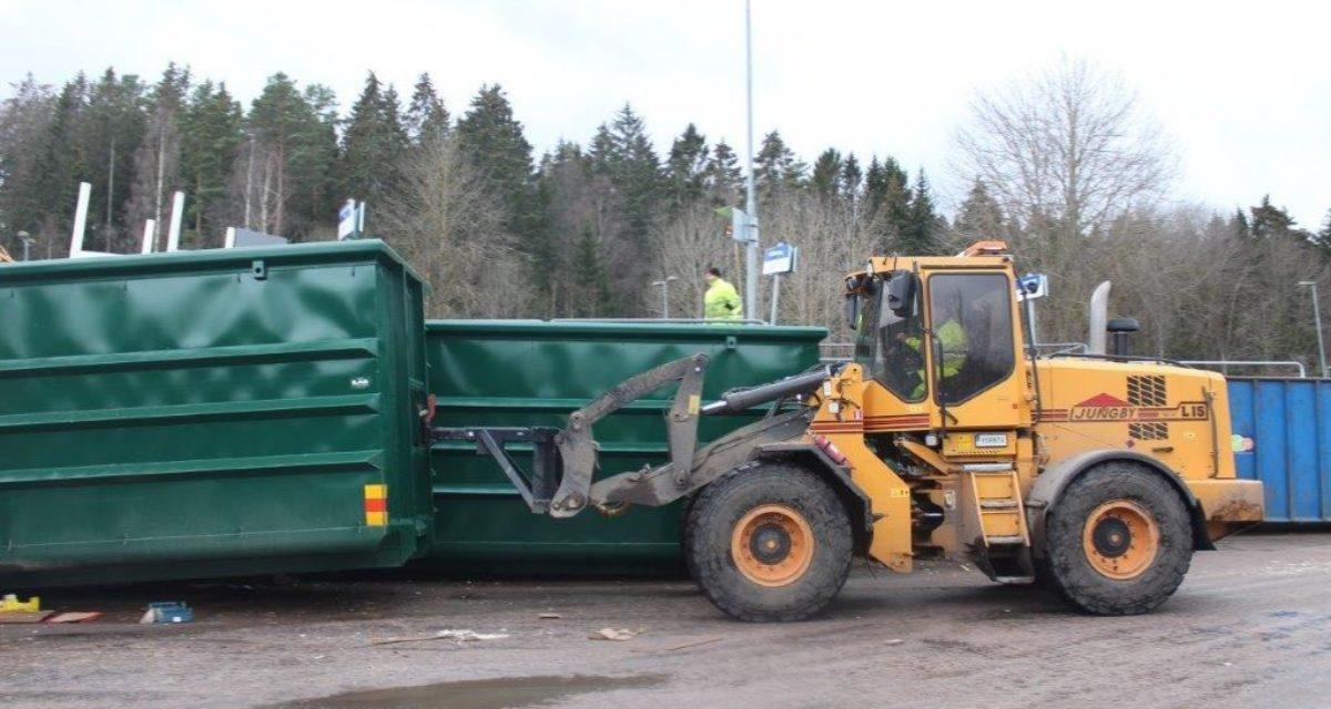 Enkel flytting av krokcontainerne med ILAB rangeringskrok