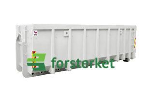 Åpen krokcontainer forsterket