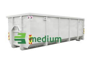 Åpen krokcontainer medium