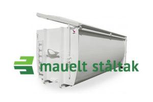 Lukket krokcontainer manuelt sidehengslet ståltak