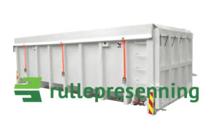 Lukket krokcontainer rullepresenning