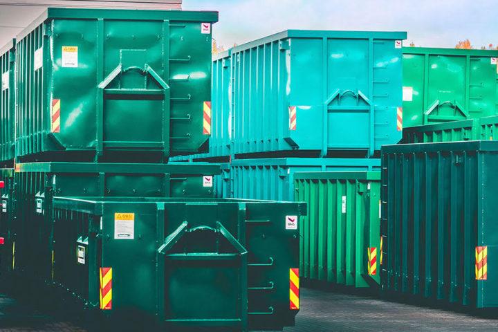 Stort utvalg containere