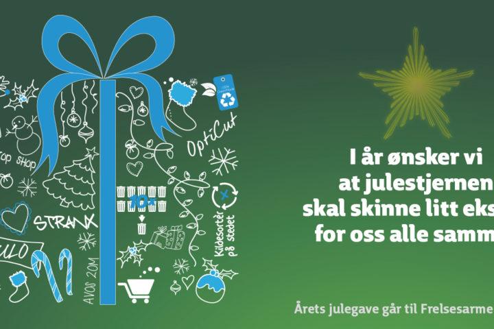 Åpningstider i julen og årets julehilsen.